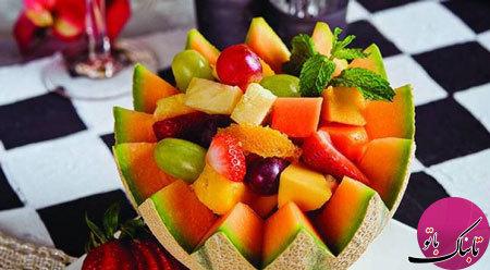 سالاد میوههای استوایی، لذیذ و رنگارنگ