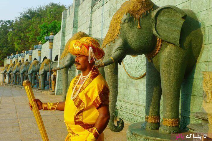 مرد هندی که سی سال مجسمه است