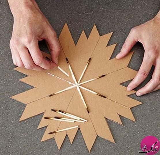 آموزش کاردستی با چسب چوب