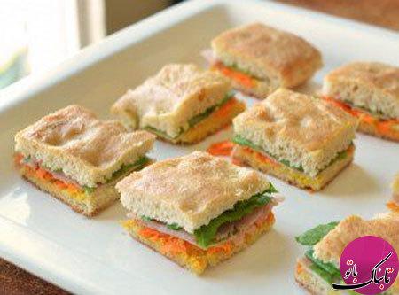 طرز تهیهی ساندویچهای خوشمزه با نان فوکاچیا