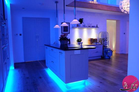 ایدههایی برای نورپردازی آشپزخانه با لامپهای LED