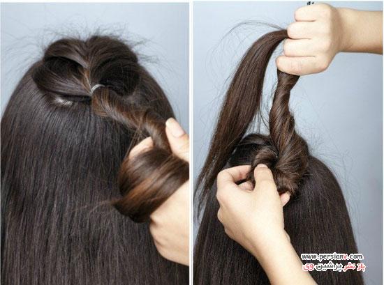 آموزش مدل مو نیمه بافت فرانسوی مناسب موهای بلند و کوتاه