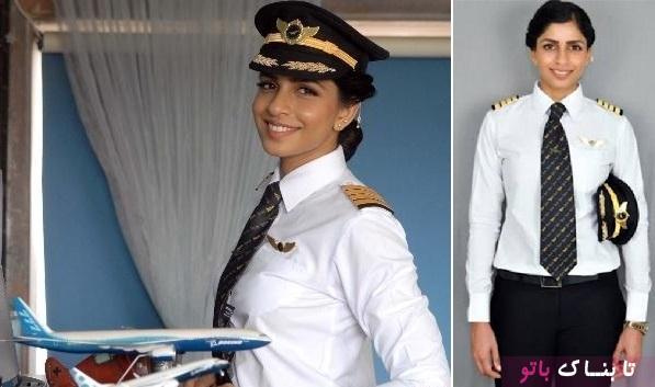 جوانترین خلبان زن بویینگ ۷۷۷