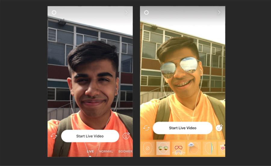 اینستاگرام چهره های ویدیویی را فیلتر می کند