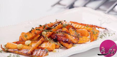 طرز تهیهی هویج کاراملی با طعم پرتقال