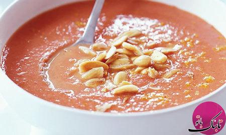 طرز تهیهی سوپ رشته فرنگی و بادام