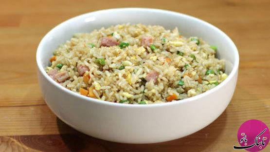 غذای ژاپنی؛ برنج سرد با گوشت و سبزیجات