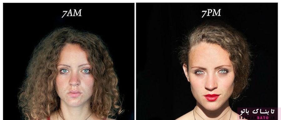 تغییرات چهره انسان از صبح تا شب