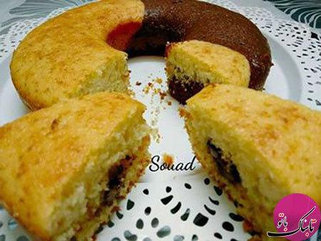 طرز تهیهی کیک شب و روز