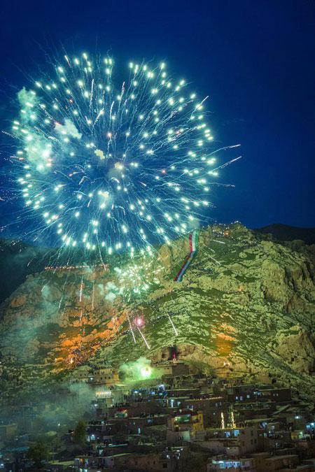 لحظه تحویل سال نو در اقلیم کردستان عراق
