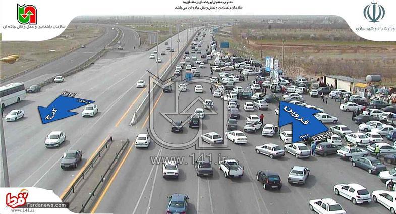 ترافیک پرحجم در خروجیهای تهران+تصاویر