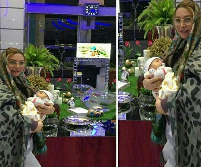 خانم بازیگر و دختر تازه متولد شده اش +عکس