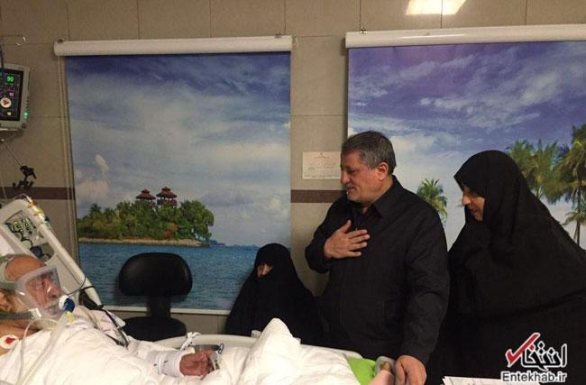 عیادت همسر و فرزندان هاشمی از استاد اخلاق +عکس