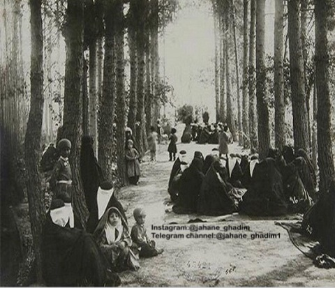 نمایی از سیزده بدر در دوران قاجار +عکس