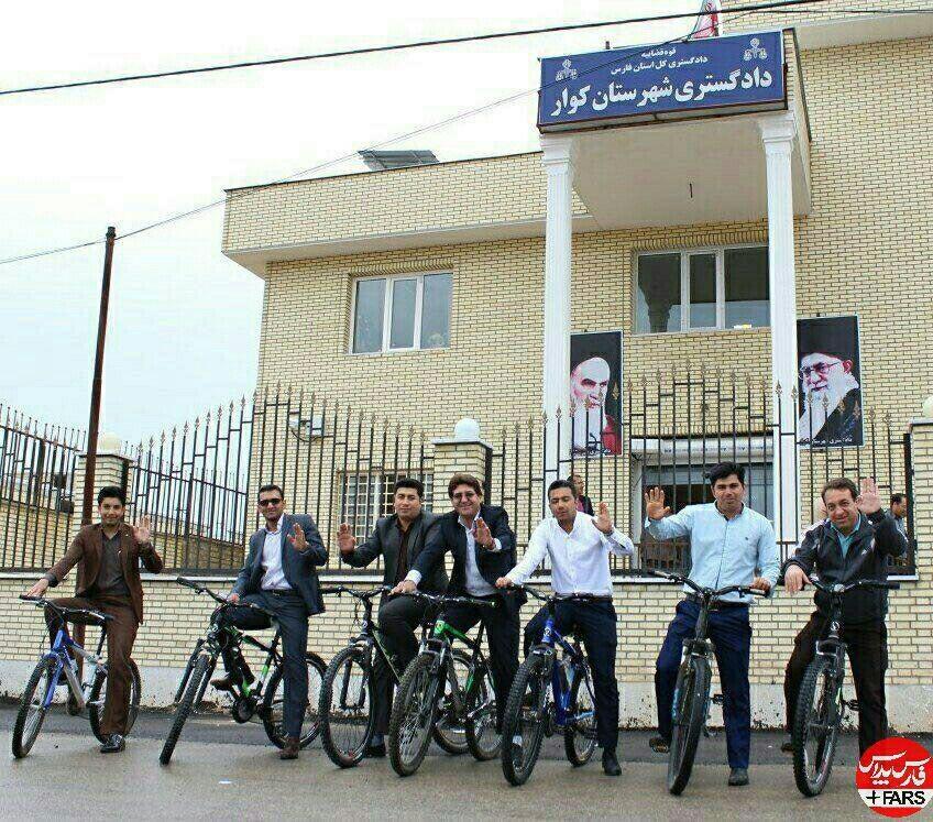 قاضیهای دوچرخه سوار در ایران +عکس