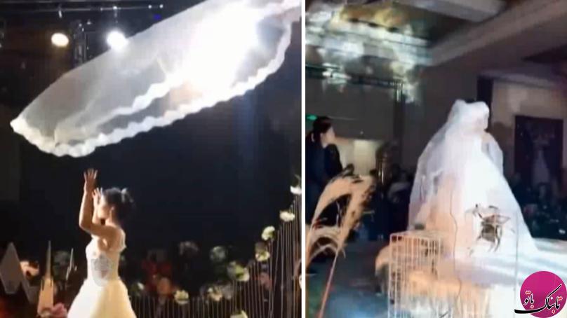 تور پرنده مد جدید مراسم عروسی در چین!