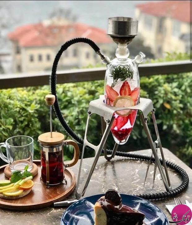 قلیان های خلاقانه در رستورانی در ترکیه