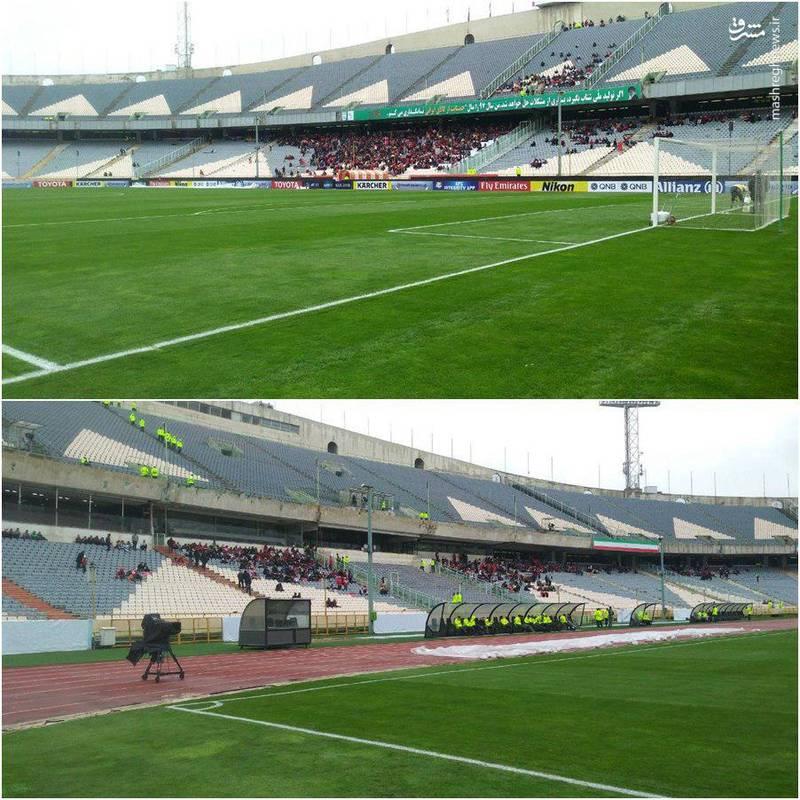 حال و هوای ورزشگاه آزادی قبل از بازی پرسپولیس +عکس