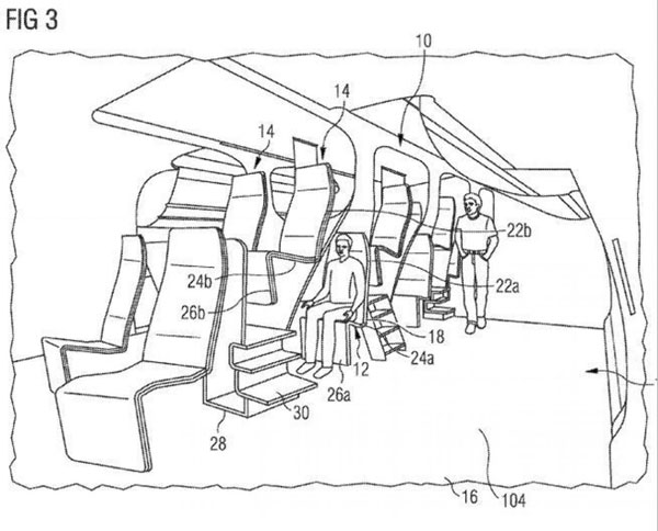 طرح عجیب ایرباس برای صندلیهای هواپیما+عکس