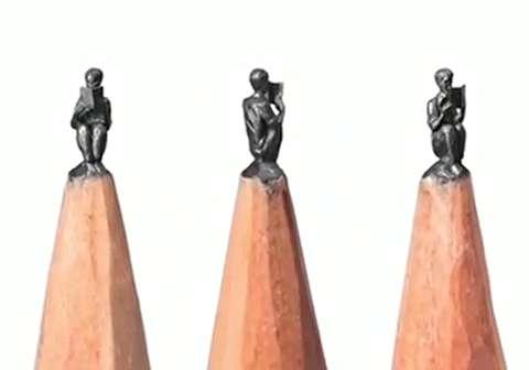 مجسمه سازی حیرتانگیز با مغز مداد