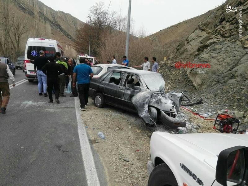 تصادف سنگین پراید و ۲۰۶ در چالوس +عکس