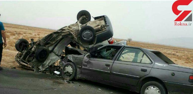 عکسی عجیب از تصادف مرگبار در اسفراین