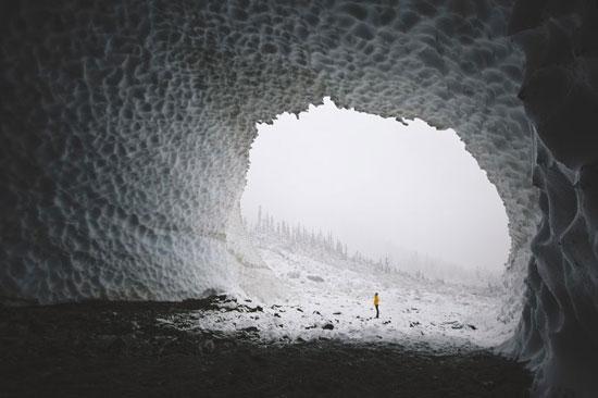 عکس روز نشنال جئوگرافیک؛ غار یخی واشنگتن