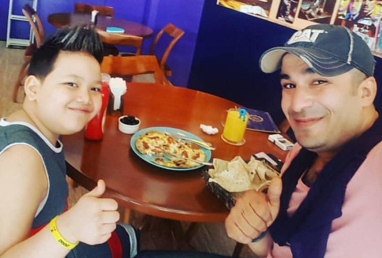 یوسف تیموری و پسرش+عکس