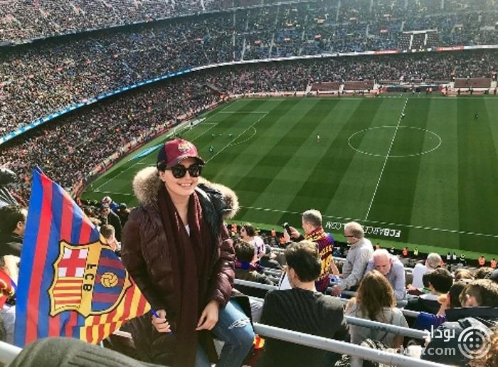 الناز شاکردوست در باشگاه بارسلونا +عکس