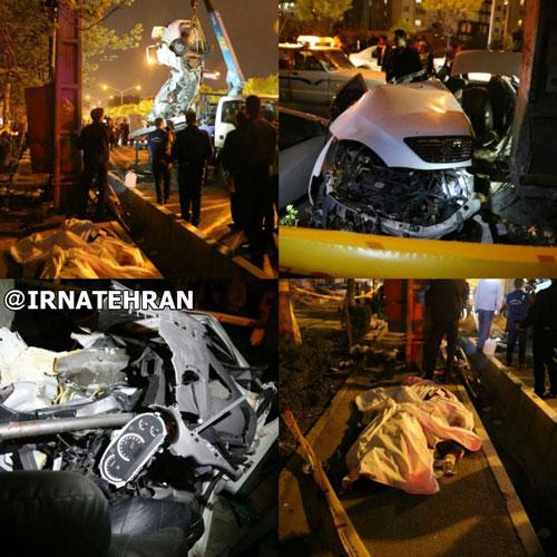 تصادف مرگبار در بزرگراه حکیم +عکس