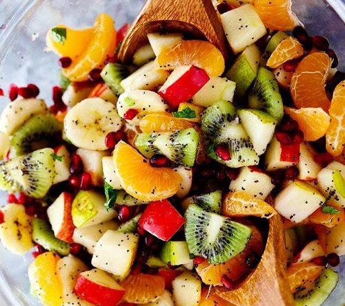 سالاد میوه های زمستانی