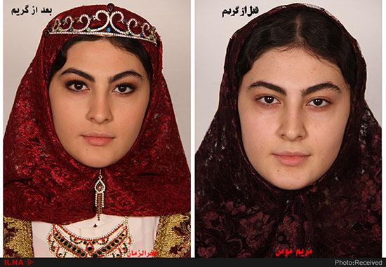 بازیگران سریال «بانوی عمارت» قبل و بعد از گریم+عکس