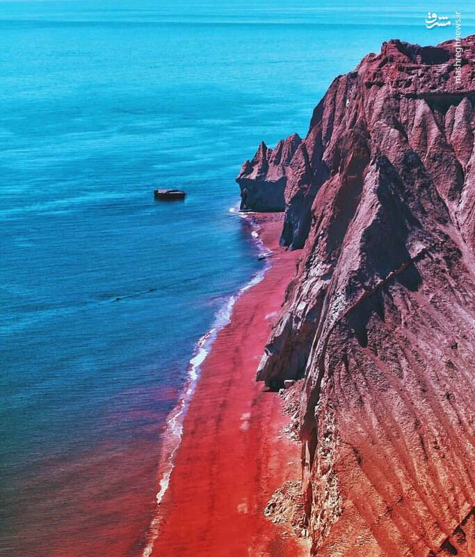 ساحلی به رنگ خون+عکس