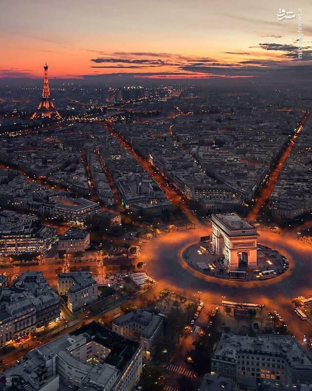 نمایی دیدنی از پاریس
