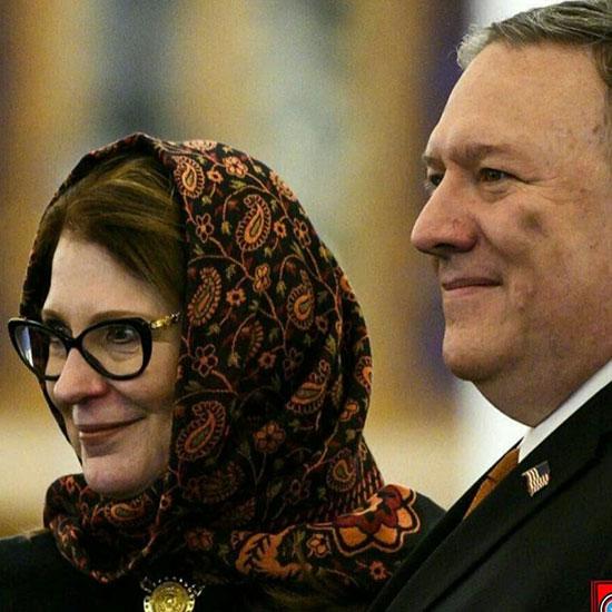 واکنشِ ایراندوست به روسری ایرانی همسرِ پمپئو +عکس