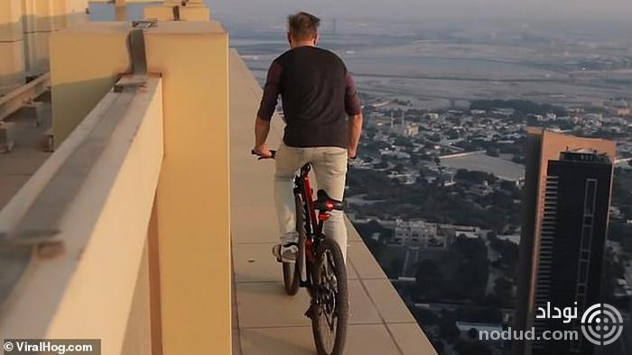 اقدام ترسناک یک دوچرخه سوار در دوبی+عکس