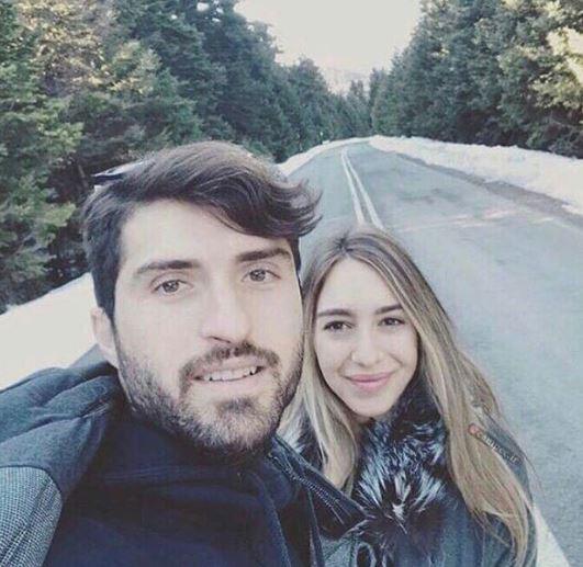 کریم انصاری فرد در کنار همسرش+عکس