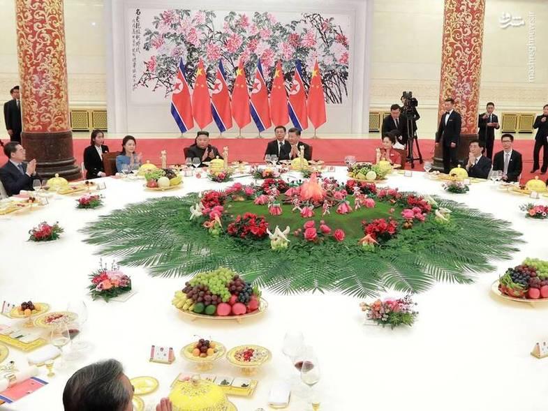ناهار کاری «اون» و رئیس جمهور چین +عکس
