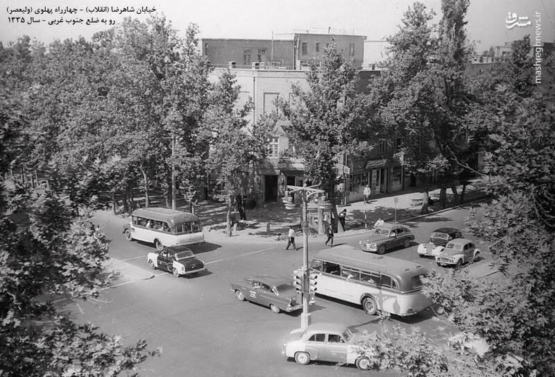 چهار راه ولیعصر تهران، ۶۰ سال قبل+عکس