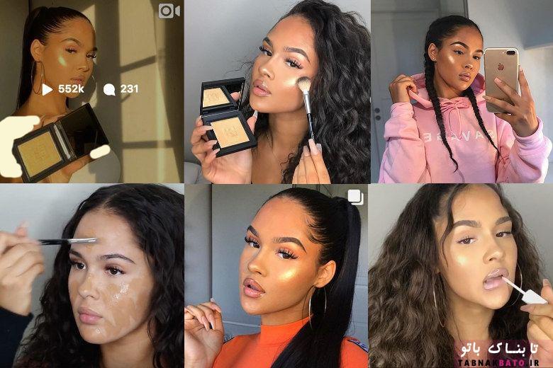 آرایش فریبکارانه مدل معروف برای شهرت