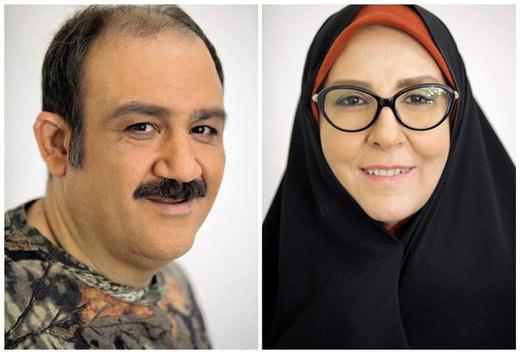 گریم مهران غفوریان و مرجانه گلچین در سریال نوروزی +عکس