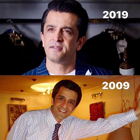چهرههای ایرانی در چالش عکس ۱۰ سال قبل