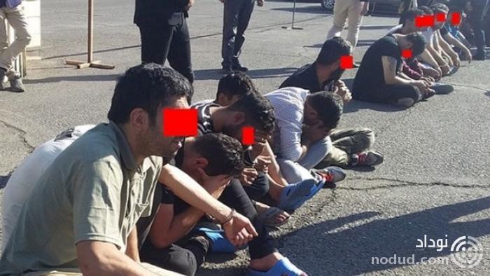 پلیس تهران این ۱۲ زورگیر شمشیر به دست را شوکه کرد! +عکس