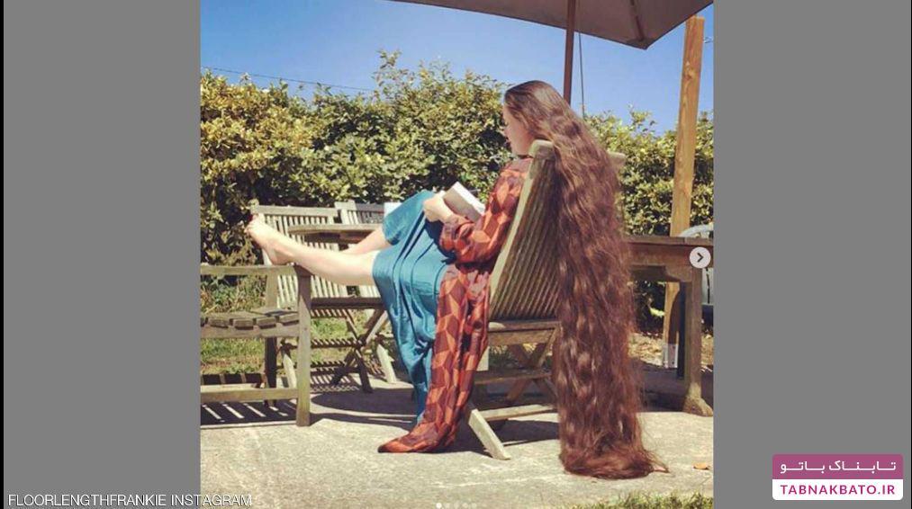 زن انگلیسی که 20 سال موهایش را نشسته است!