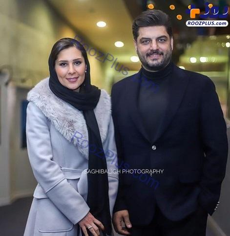 «سام درخشانی» همراه همسرش در جشنواره فجر +عکس