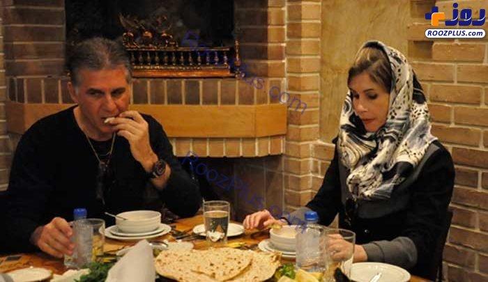 کارلوس کیروش و همسرش در یک رستوران ایرانی+عکس