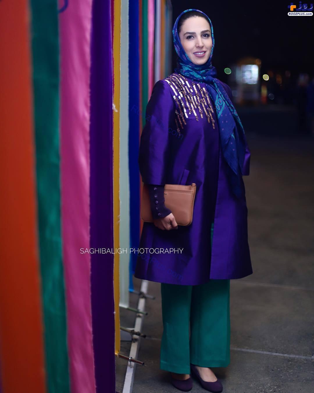 سوگل طهماسبی در ورودی جشنواره فیلم فجر+عکس