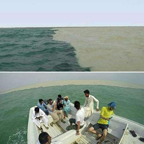 دریای دو رنگ در سيستان و بلوچستان!