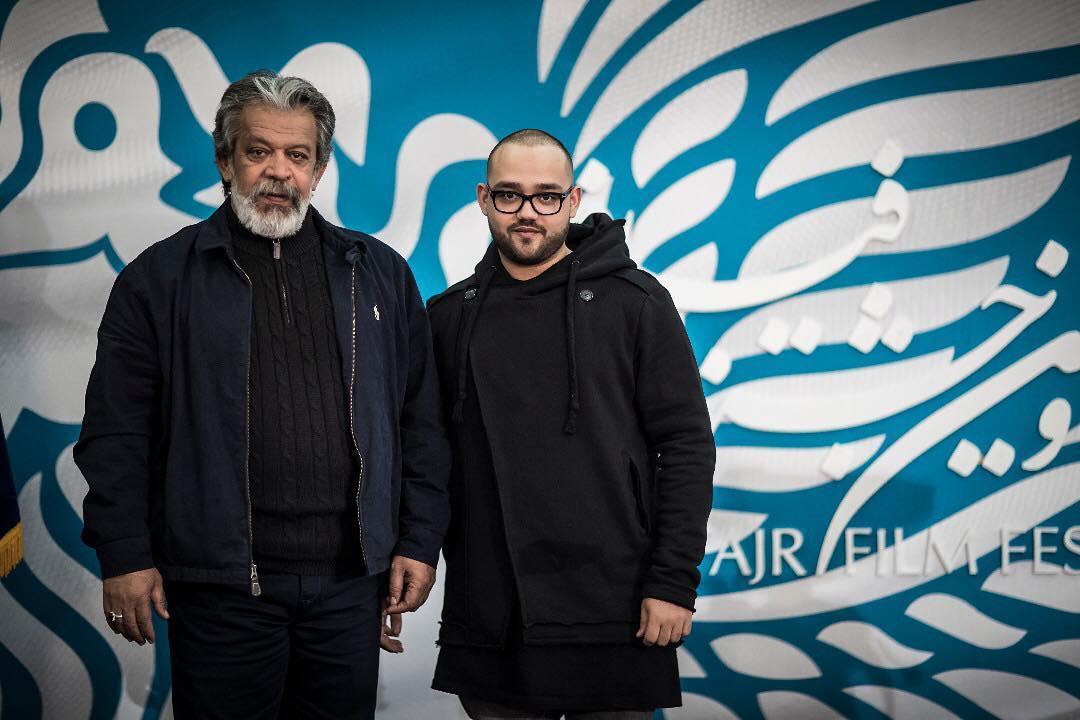 حسن پورشیرازی به همراه پسرش در جشنواره فجر +عکس