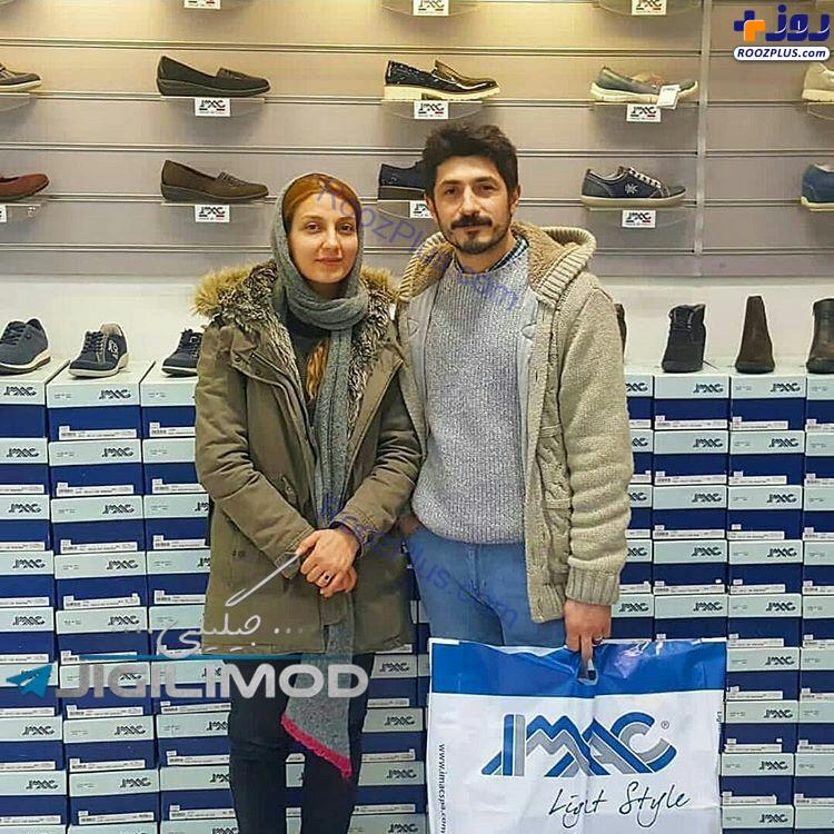 حدیث میرامینی و همسر بازیگرش در بوتیک+عکس